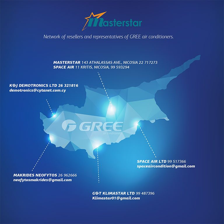 GREE Cyprus | GREE Airconditioning Cyprus | Masterstar
